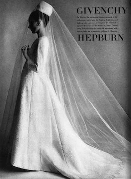 Audrey Hepburn Givenchy Wedding Gowns