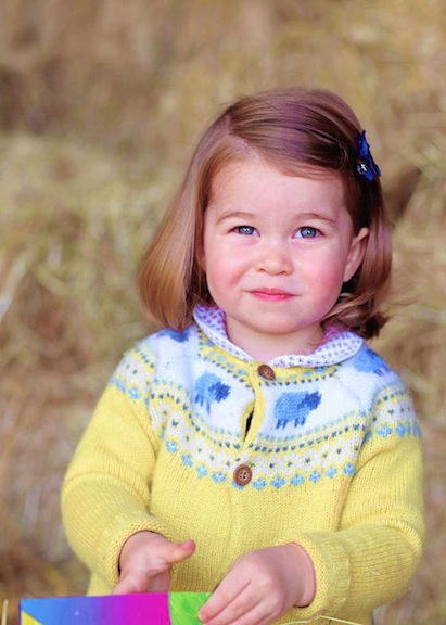 Official image of Princess Charlotte
