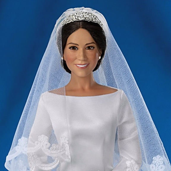 Up-close photo of Meghan Markle doll
