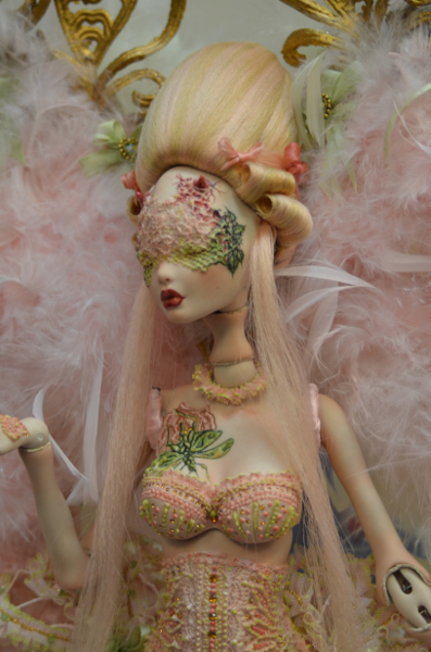 Attending the Quinlans' convention and sale allows collectors to see world-class artistry, such as this Briar Rose doll by artist Rafael Nuri, with a price tag of $50,000, at the Helen Bullard Award for Excellence Judging & Sale.