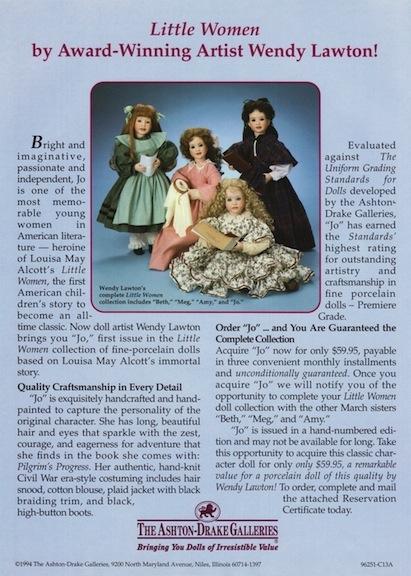 Ashton-Drake 1994 Little Women Doll ad