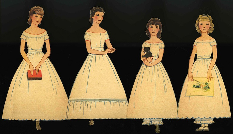 Baylor University March Sisters Paper Dolls
