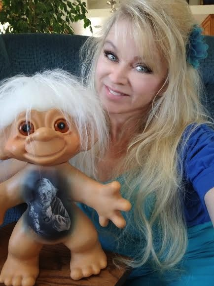 Judi Paul and her Thomas Dam Troll Portrait Doll