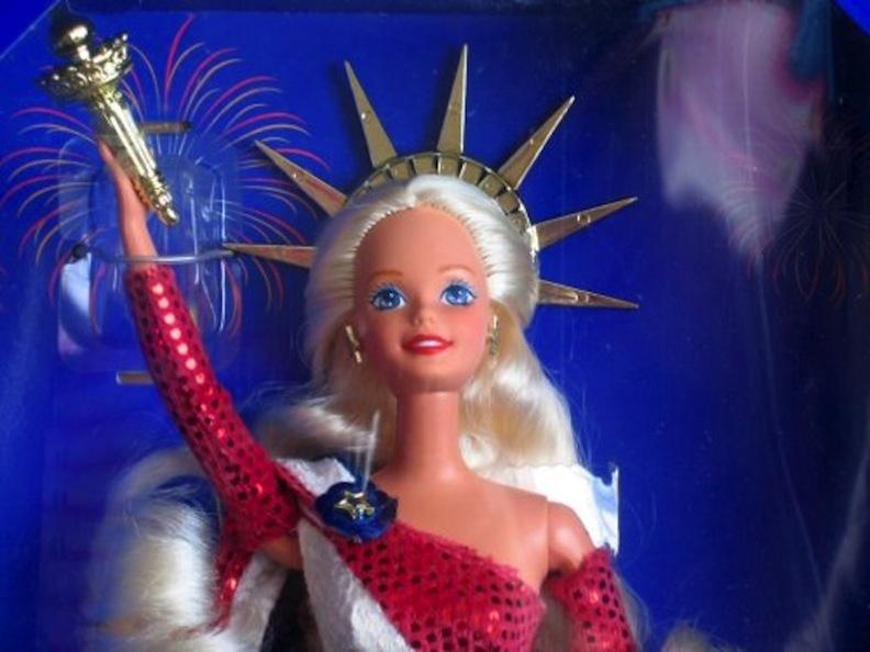 FAO Schwarz Statue of Liberty Barbie doll