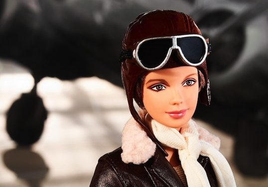 Up and Away: Amelia Earhart solos as Inspiring Women Barbie