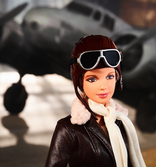 Amelia Earhart doll in cap