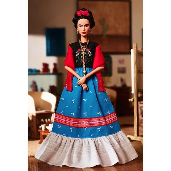 Full-length Frida Kahlo Barbie Doll