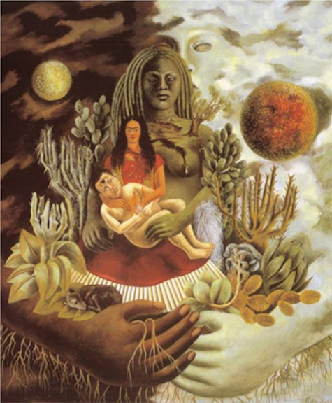 "Frida Kahlo's painting ""The Love Embrace of the Universe"""