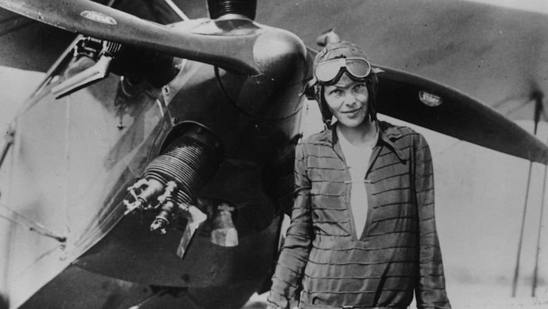 Real-life Amelia Earhart by plane