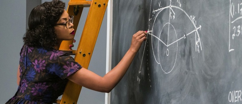 Taraji Henson as Katherine Johnson in Hidden Figures
