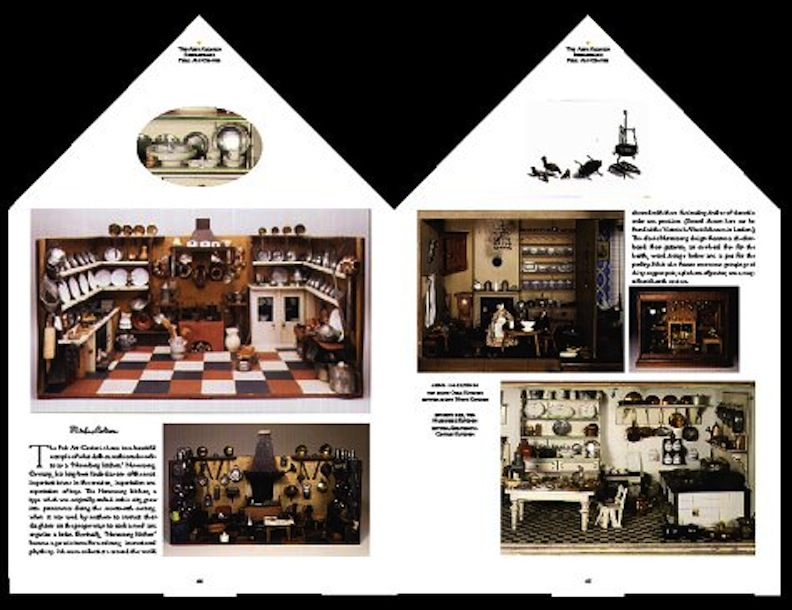 Interior of Finnegan Doll House Book
