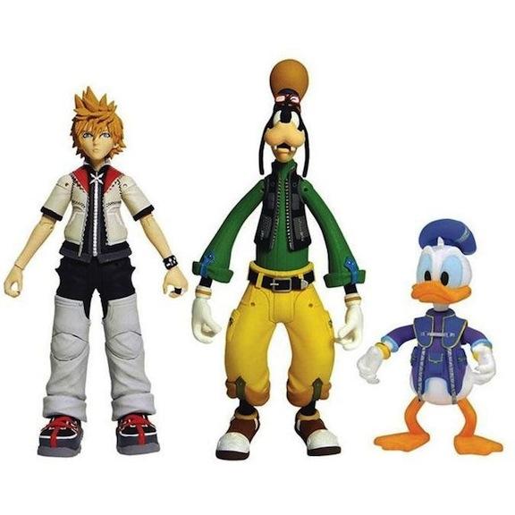 Goofy, Donald, and Roxas