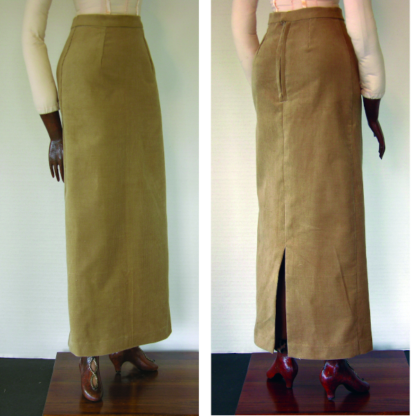 final skirt, front and back