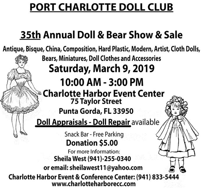 Port Charlotte Florida 35th Annual Doll & Bear Show & Sale 2019