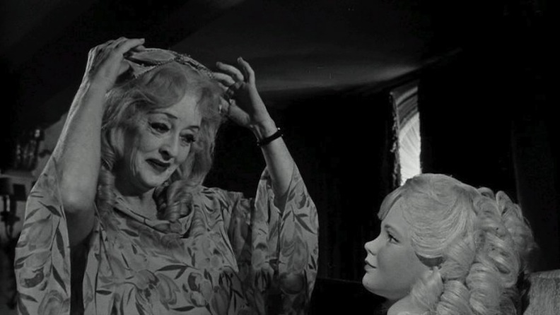 """Bette Davis and doll in """"What Ever Happened to Baby Jane?"""""""