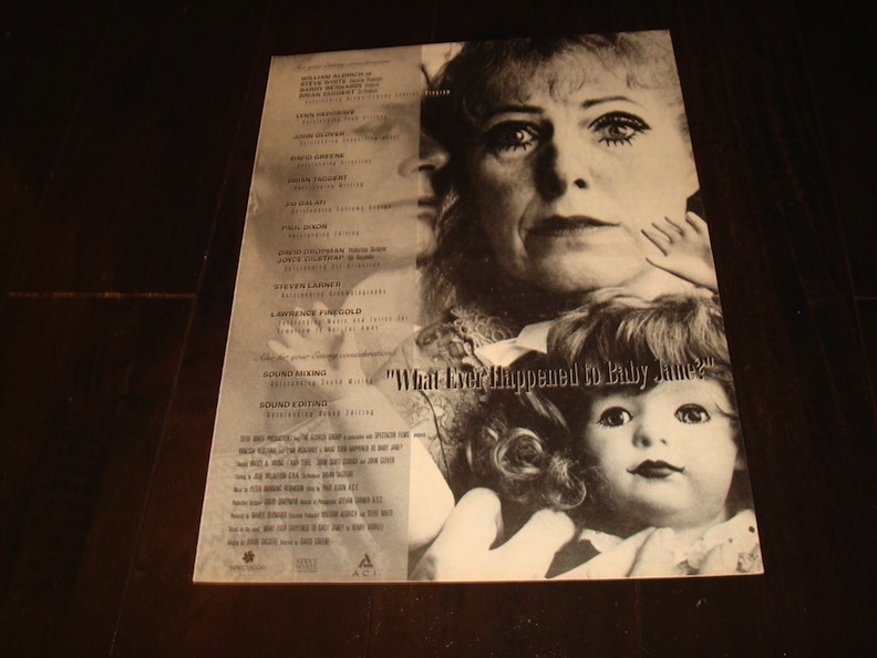 """Emmy Nomination Ad for """"What Ever Happened to Baby Jane?"""""""