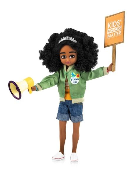 """""""Kid Activist"""" doll from Lottie Dolls"""