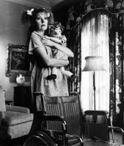 Lynn Redgrave with baby doll