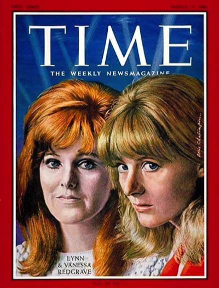 TIME Magazine cover of the Redgrave sisters