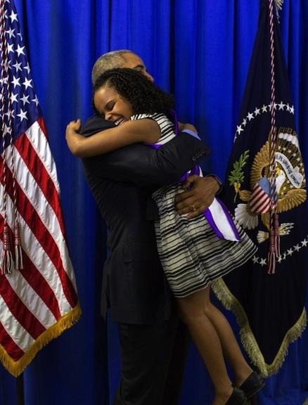 Mari Copeny and Barack Obama