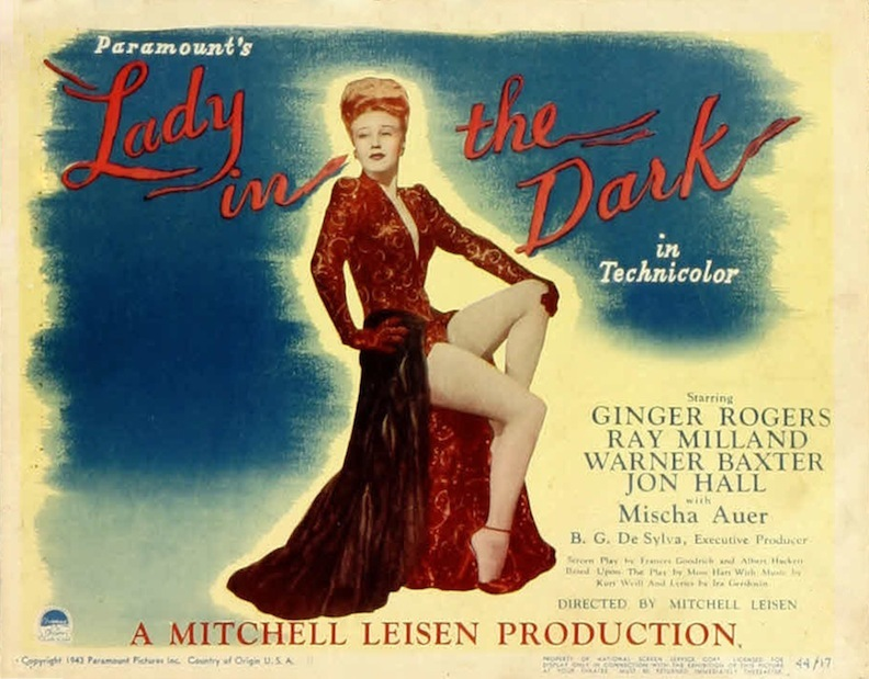 Lady in the Dark Lobby Card