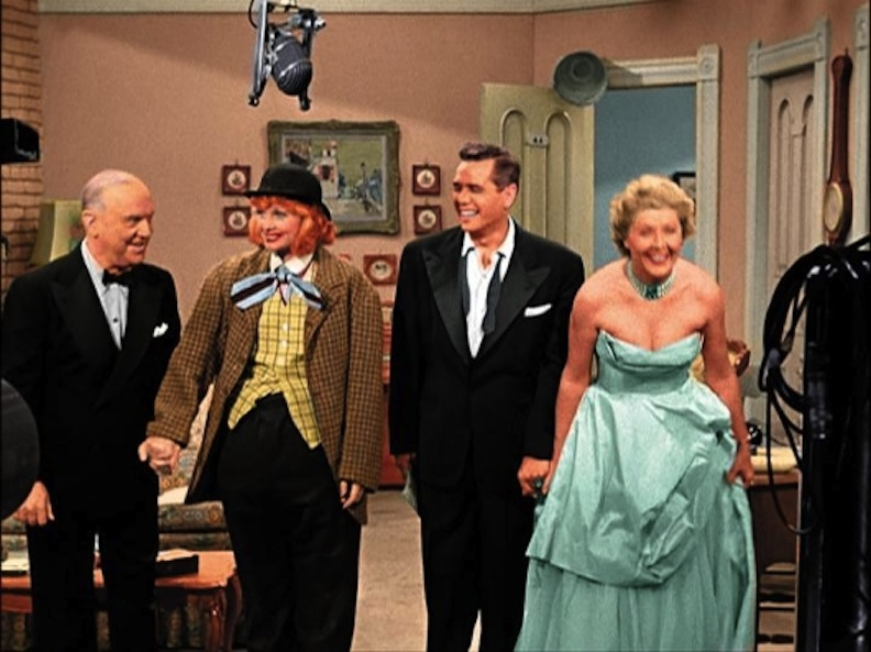 I Love Lucy Cast taking bows