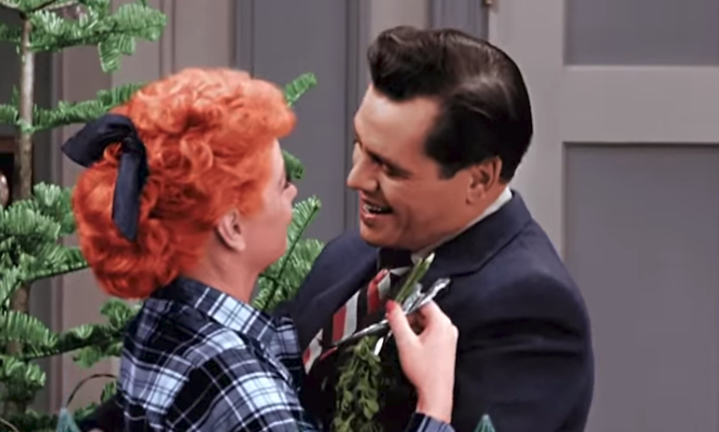 I Love Lucy Mistletoe scene