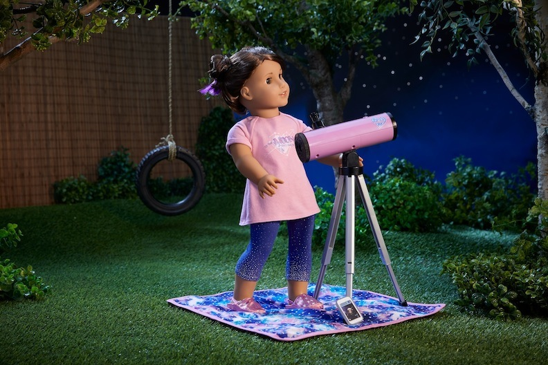 American Girl Luciana with telescope