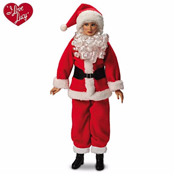 Lucy as Santa from Ashton-Drake