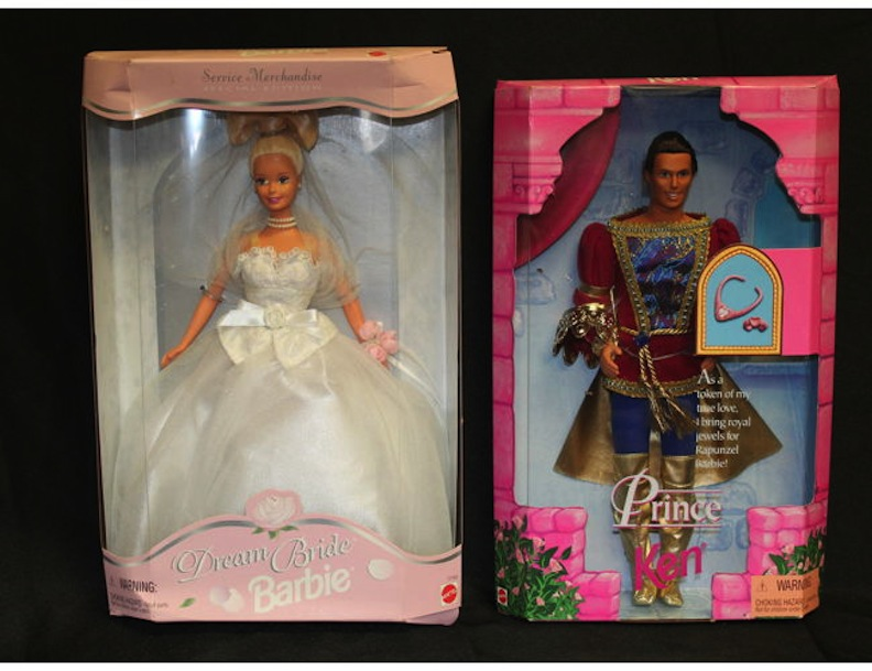 Dream Bride Barbie and Prince Ken 2019 Rehab online auction