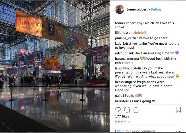 Toy Fair 2019 Robert Tonner Instagram