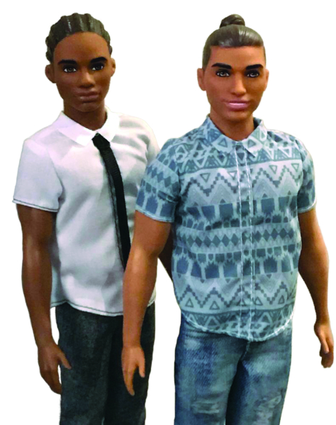 """Two recent Ken dolls really reflect the times: An African-American version with cornrows and Ken sporting a """"man bun."""""""