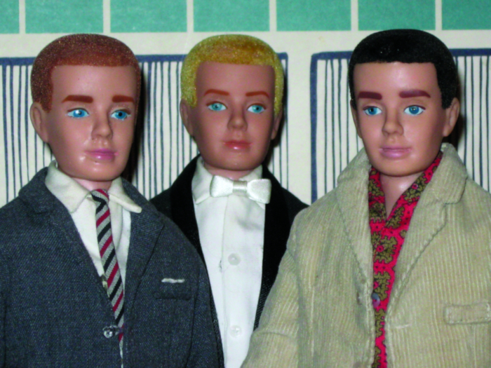 Three number one Kens, including the rare redhead made just for J.C. Penney.
