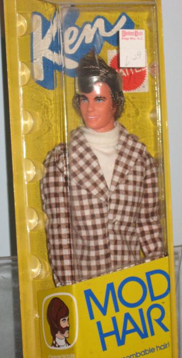 Mod Hair Ken told children that long hair was fab in 1973.